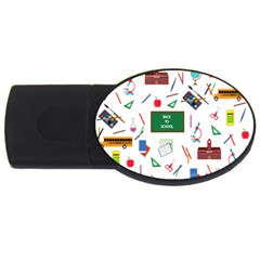 Back To School Usb Flash Drive Oval (4 Gb) by Valentinaart