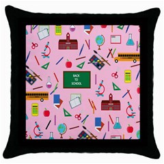 Back To School Throw Pillow Case (black) by Valentinaart