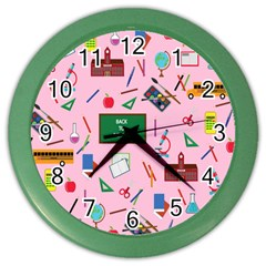 Back To School Color Wall Clocks by Valentinaart