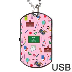 Back To School Dog Tag Usb Flash (two Sides)