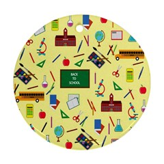 Back To School Ornament (round) by Valentinaart