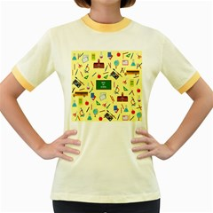 Back To School Women s Fitted Ringer T Shirts by Valentinaart