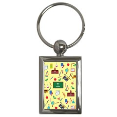 Back To School Key Chains (rectangle)  by Valentinaart