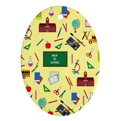 Back To School Oval Ornament (two Sides) by Valentinaart
