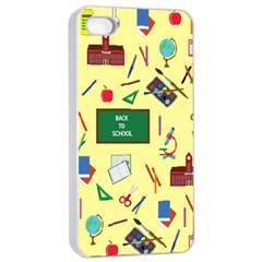Back To School Apple Iphone 4/4s Seamless Case (white) by Valentinaart