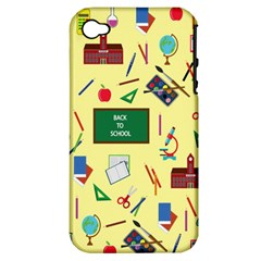 Back To School Apple Iphone 4/4s Hardshell Case (pc+silicone)