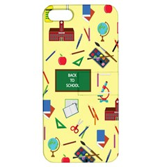 Back To School Apple Iphone 5 Hardshell Case With Stand by Valentinaart