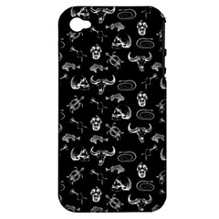 Skeleton Pattern Apple Iphone 4/4s Hardshell Case (pc+silicone) by Valentinaart