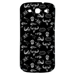 Skeleton Pattern Samsung Galaxy S3 S Iii Classic Hardshell Back Case by Valentinaart