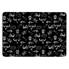 Skeleton Pattern Samsung Galaxy Tab 8 9  P7300 Flip Case by Valentinaart