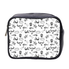 Skeleton Pattern Mini Toiletries Bag 2 Side by Valentinaart