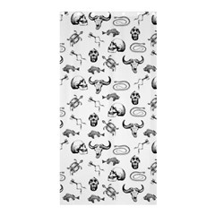 Skeleton Pattern Shower Curtain 36  X 72  (stall)  by Valentinaart