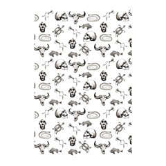 Skeleton Pattern Shower Curtain 48  X 72  (small)  by Valentinaart