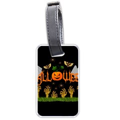 Halloween Luggage Tags (one Side)  by Valentinaart