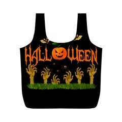 Halloween Full Print Recycle Bags (m)  by Valentinaart