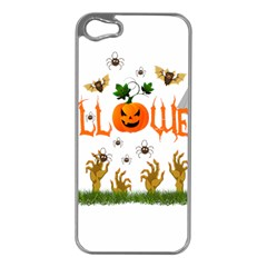 Halloween Apple Iphone 5 Case (silver) by Valentinaart