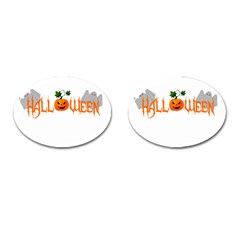 Halloween Cufflinks (oval) by Valentinaart