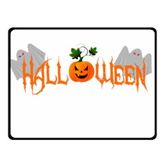 Halloween Fleece Blanket (small) by Valentinaart