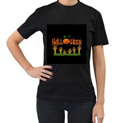 Halloween Women s T Shirt (black)