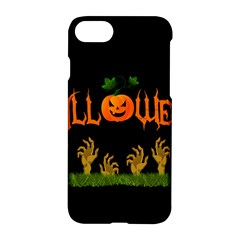 Halloween Apple Iphone 7 Hardshell Case by Valentinaart