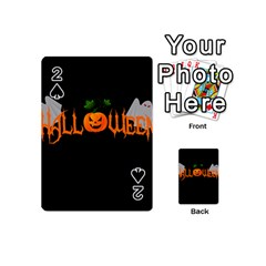 Halloween Playing Cards 54 (mini)  by Valentinaart