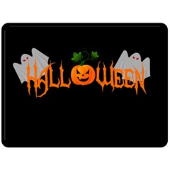 Halloween Double Sided Fleece Blanket (large)