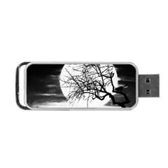 Halloween Landscape Portable Usb Flash (two Sides) by Valentinaart