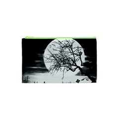 Halloween Landscape Cosmetic Bag (xs) by Valentinaart