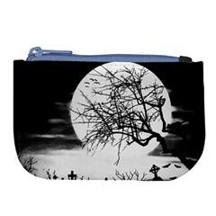 Halloween Landscape Large Coin Purse by Valentinaart