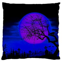 Halloween Landscape Large Flano Cushion Case (two Sides)