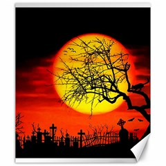 Halloween Landscape Canvas 20  X 24   by Valentinaart