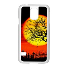 Halloween Landscape Samsung Galaxy S5 Case (white) by Valentinaart