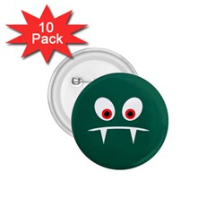 Angry Monster 1 75  Buttons (10 Pack) by linceazul