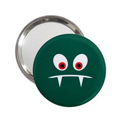 Angry Monster 2 25  Handbag Mirrors by linceazul