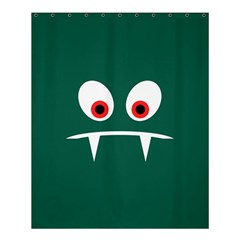 Angry Monster Shower Curtain 60  X 72  (medium)  by linceazul