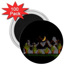 Halloween Zombie Hands 2 25  Magnets (100 Pack)