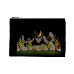 Halloween Zombie Hands Cosmetic Bag (large)