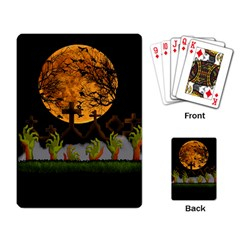 Halloween Zombie Hands Playing Card by Valentinaart