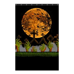 Halloween Zombie Hands Shower Curtain 48  X 72  (small)  by Valentinaart