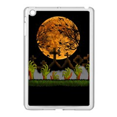 Halloween Zombie Hands Apple Ipad Mini Case (white) by Valentinaart