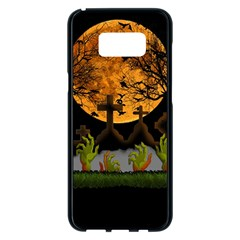 Halloween Zombie Hands Samsung Galaxy S8 Plus Black Seamless Case