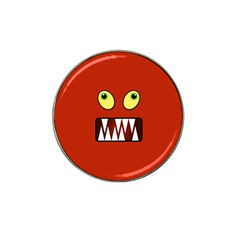 Funny Monster Face Hat Clip Ball Marker (10 Pack) by linceazul
