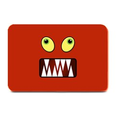 Funny Monster Face Plate Mats by linceazul
