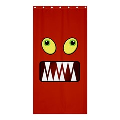 Funny Monster Face Shower Curtain 36  X 72  (stall)  by linceazul