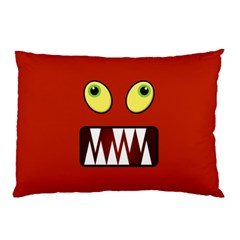 Funny Monster Face Pillow Case (two Sides) by linceazul