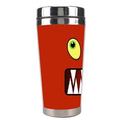 Funny Monster Face Stainless Steel Travel Tumblers by linceazul
