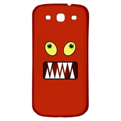 Funny Monster Face Samsung Galaxy S3 S Iii Classic Hardshell Back Case by linceazul