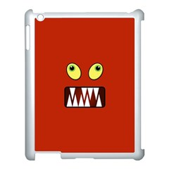 Funny Monster Face Apple Ipad 3/4 Case (white) by linceazul