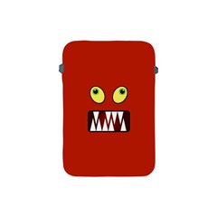 Funny Monster Face Apple Ipad Mini Protective Soft Cases by linceazul