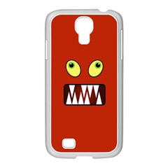 Funny Monster Face Samsung Galaxy S4 I9500/ I9505 Case (white) by linceazul